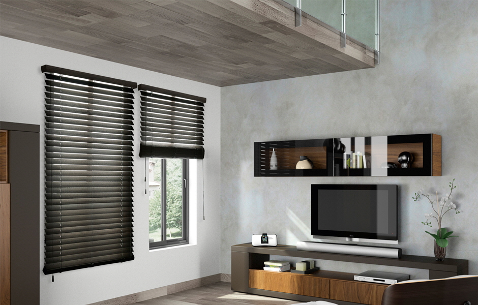Abachi Venetian Blind - Parket Collection with 2 inch or 2 1/2 inch slats