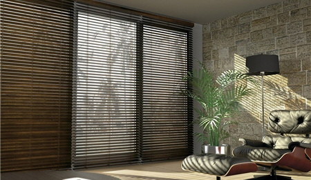 Abachi Venetian Blind - Express Collection with 2 inch or 2 1/2 inch slats
