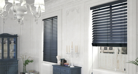 Abachi Venetian Blind - Elle Deco Collection with 2 inch or 2 1/2 inch slats
